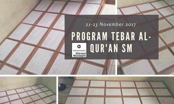 Tebar 560 Al-Qur'an Ke 28 Lembaga di 27 Kota