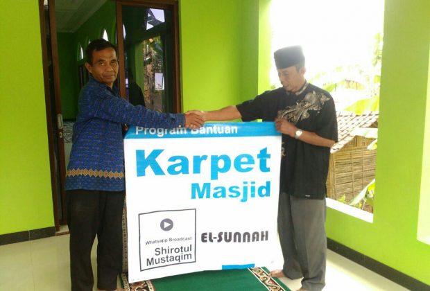 Bantuan Karpet Masjid Darus Salam Bumijawa Tegal