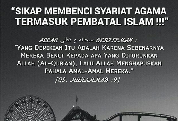 Membenci Syariat Islam