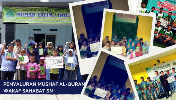 Distribusi Mushaf Wakaf Al-Qur'an Sahabat SM ke 11 Lembaga