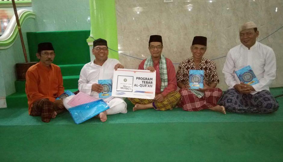 Penyaluran Mushaf Al-Qur'an untuk Jamaah Masjid As-Sulthon Baturaja OKU Sumatera Selatan